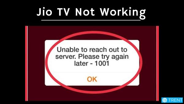 jio tv not working
